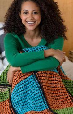 Double the Fun Throw Crochet Pattern | Red Heart ✭Teresa Restegui http://www.pinterest.com/teretegui/ ✭