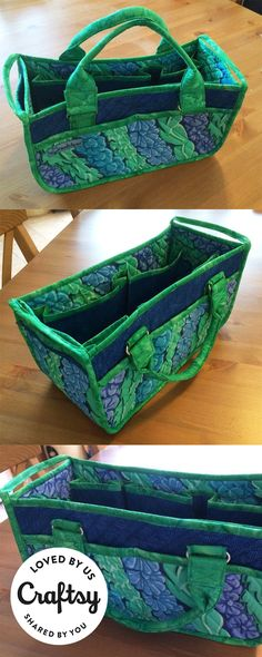 Loving this catch-all quilted sewing caddy? It's made by a maker just like you! Click to ask questions, show the project some love and even find out which Craftsy class they used to make it.