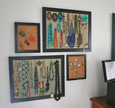 mmmcrafts: jewelry boards in my room