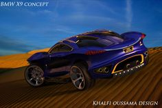 unbelievable BMW Concept X9 is designed by 1) 18-yr old!!  2) Tunisian! Khalfi Oussama • creativity/art has no boundaries of age or race & those who mock Arabs/Muslims as heathens should stop right here as we're all humans with 2 tits/2 eyes/2 legs etc. & all can be creative citizens of the world...Art & Creativity can solve everything!