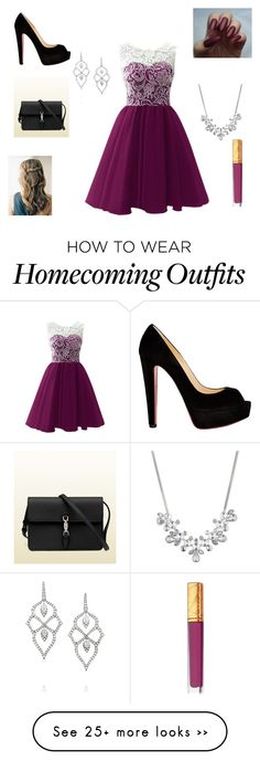 """""""Untitled #5"""" by harwoodreagan on Polyvore featuring Christian Louboutin, Gucci, Givenchy, Stephen Webster and Estée Lauder"""