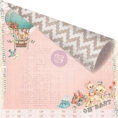 Heaven Sent Welcome baby - scrapbook papier 12x12 inch