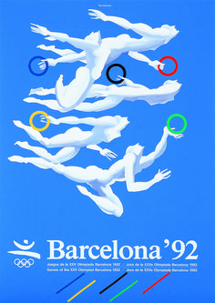 Barcelona The Games had a transformative effect on the fortunes of the city olympic games Inspiring and eye-catching: 100 years of Olympic Games posters celebrated Poster Art, Art Deco Posters, Cool Posters, Sports Posters, 1992 Olympics, Summer Olympics, Barcelona, Asian Games, Mirrors Online