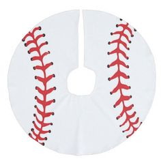 Baseball Design Christmas Tree Skirt
