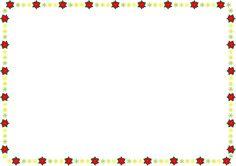 秋冬の花の飾り枠21-ポインセチアイラスト