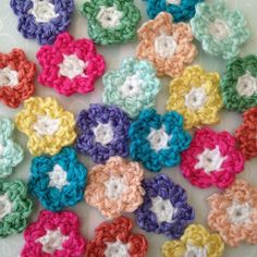 Crochet flowers from The Dream Crochet Blog.