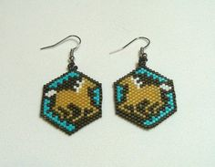Running Horses Beaded Earrings by DoubleACreations on Etsy, $20.00