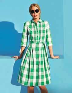 Gingham Shirt Dress - Boden