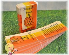 'Pumpkin Poop' Tic Tac Wrapper