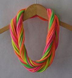 so cool! T-shirt scarf in neon by Sariph on Etsy, $16.00