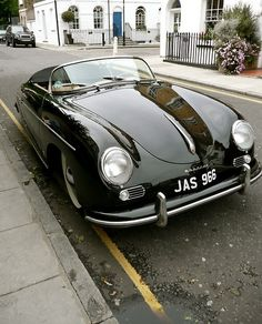 Black Porsche 356 - could see me in the back of this with a vintage scarf flowing behind me