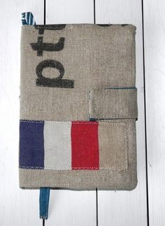 Agenda / Notebook made of vintage Dutch postal sack