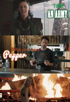 Tony Stark has Pepper Potts <-- we'll Louie has an army of fan girls... Tony is screwed