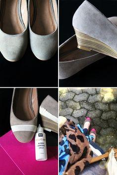 DIY shoes :: colour blocking