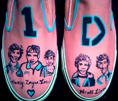 Painted Shoes: One Direction
