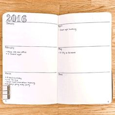 "The next four pages are your ""future log"" — which is just your yearlong calendar for the big stuff."