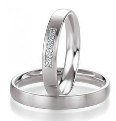 Trauringe Timea mit Brillanten mit 0,06 ct bei dem Damenring. verlobungsring.de #brillanten #rings #weißgold