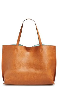 Street Level Reversible Faux Leather Tote & Wristlet (Juniors) | Nordstrom