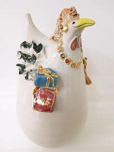 Handgefertigtes Unikat aus Keramik, Crazy Chick, Dekoration, Garten Gemstone Rings, Gemstones, Jewelry, Fashion, Lawn And Garden, Dekoration, Moda, Jewlery, Gems