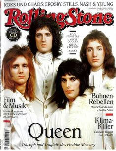 Queen. Cover of Rolling Stone Magazine - Germany