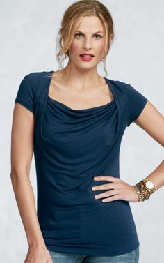 Yes please. New Drape Tee - CAbi Spring 2013 Collection