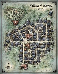 Mike Schley's Portfolio - Village of Barovia Map