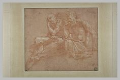 Le Primatice: 2 vieillards à moitié drapés, Le Louvre