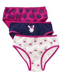 Bunny Apple Underwear Three-Pack at Gymboree