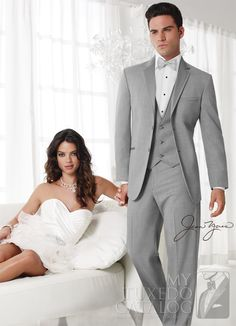 Jean Yves Savoy Tuxedo with a Modern Fit for the Modern Groom. Wedding Tuxedo Rentals available at Alexanders Tuxedos in Bridgeport, CT Gossip girl style picture? Groom And Groomsmen, Groom Wear, Groom Dress, Groom Suits, Dress Vest, Groom Attire, Dress Suits, Tie Dress, Costumes Gris Clair