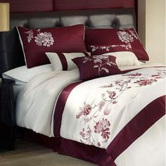 Haiku 7 Piece Embroidered Comforter Sets - Bed in a Bag - Bed & Bath - Macy's Bedding Sets Online, Comforter Sets, King Comforter, Bedroom Sets, Home Decor Bedroom, Bed Cover Design, Designer Bed Sheets, Cool Comforters, Bed In A Bag