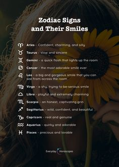 Here is how the signs smile. signs a little more than just horoscope insights Zodiac Signs Chart, Zodiac Sign Traits, Zodiac Signs Astrology, Zodiac Star Signs, Horoscope Signs Sagittarius, Aquarius Zodiac, Virgo Quotes, Scorpio, Quotes Quotes