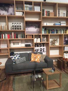 Modern built in bookcase