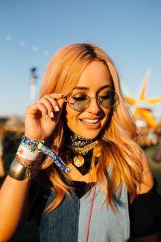 The Coolest Rainbow Hair Looks At Coachella+#refinery29uk