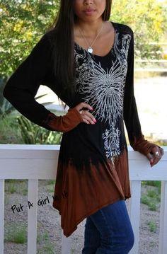 Vocal Plus Size Crystal Black Ombre Tie Dye Lace Tunic Top Shirt Biker 1x 2X 3X   eBay