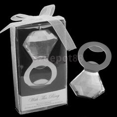 1pc With This Ring Diamond Bottle Opener Bridal Shower Wedding Party Favors Gift…