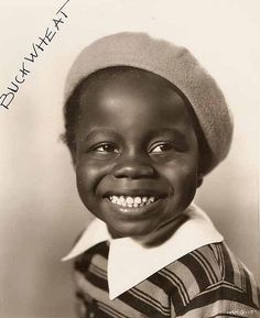 """William """"Billie"""" Thomas, Jr., child actor. He is best remembered for portraying the character of """"Buckwheat""""  (""""O-tay!"""") in the Our Gang (aka Little Rascals) short films from 1934-1944. Although the character he played was often the subject of controversy in later years for containing elements of the """"pickaninny"""" stereotype, he always defended his work, pointing out that Buckwheat and the rest of the Black kids were treated as equals in the series."""