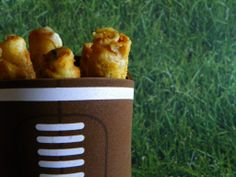 Coozy as a Taquito Serving Cup. Perfect way to serve your El Monterey taquitos. Looks cool and keeps them warm. #spon