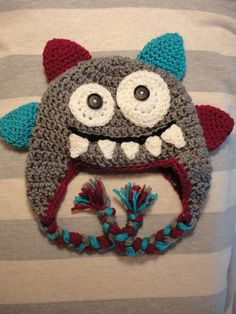 Monster Crochet Hat boy or girl version by ThisThatandHats on Etsy, $18.00