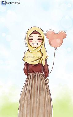 Image in islam art 🌙 collection by 𝕄𝕠𝕠𝕟 🌕 on We Heart It Otaku Anime, Anime Phone, Muslim Girls, Muslim Women, Hijab Anime, Anime Girls, Hijab Drawing, Modele Hijab, Islamic Cartoon