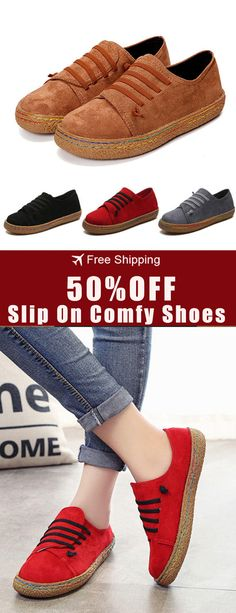 Women Slip On Comfy Suede Flat Loafers. US Szie 5- f58e3cf56