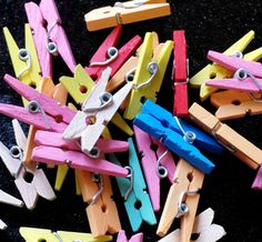 49p 28 mini clothes pegs wooden pegs wooden by KelwayCraftsYorkshir