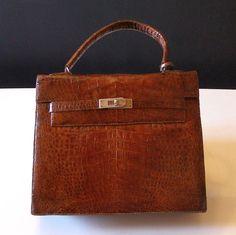 Hermès sac Plume petit modèle en cuir marron