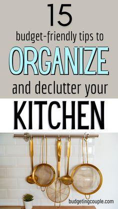 Kitchen Things, Kitchen Hacks, Organizing Your Home, Organizing Ideas, Declutter House, Biscuit Pudding, Organized Kitchen, Destress, Craft Organization