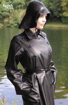 Raincoats For Women Weather Info: 6404906444 Black Raincoat, Hooded Raincoat, Heavy Rubber, Black Rubber, Black Mac, Rain Hat, Rubber Raincoats, Plastic Raincoat, Pvc Coat