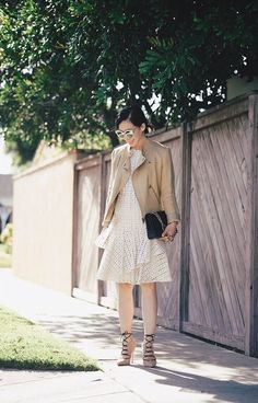 Moto Jacket & Eyelet Dress