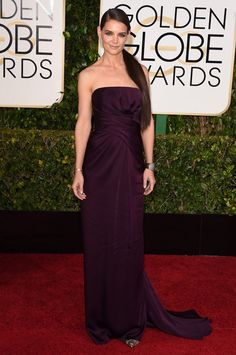 Pin for Later: Check Out All the Stars on the Golden Globes Red Carpet! Katie Holmes