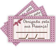 Tags SEM FURO para Agradecimento - Rosa e Marrom Petit Poá - 15 unidades - Magazine 25 de Março - Artigos para Festas