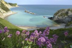 It's hard to believe but this beach is called Man of War Bay... and it's in Isle Of Purbeck, also in Dorset.