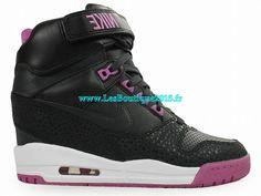 factory price ec587 60919 Nike Air Revolution Sky Hi GS - Chaussures Nike Pas Cher Pour Femme Noir/ Rose 599410-001