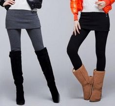 Welcome to SupisKupis Skirt Leggings, Grey Wash, Black And Grey, Black Jeans, Boots, Skirts, Cotton, Fashion, Crotch Boots